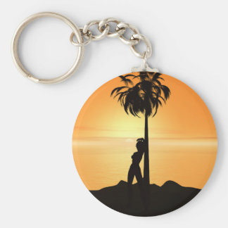 Orange sunset scenery keychain