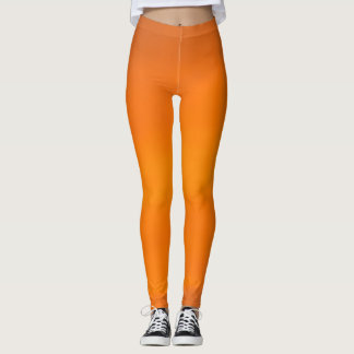 Orange Sunset Sky Abstract Fashion Leggings