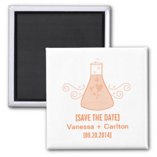 Orange Sweet Chemistry Save the Date Magnet
