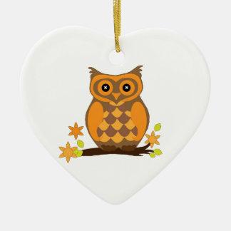 Orange sweet owl christmas ornaments