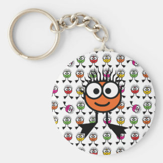 Orange Swim Character Keyring