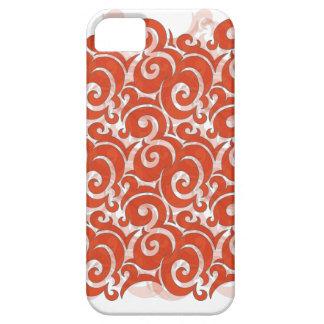 Orange Swirl iPhone 5 Covers