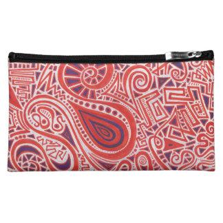 Orange Swirl Cosmetic Bag