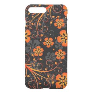 orange swirl flowers and lines art iPhone 7 plus case