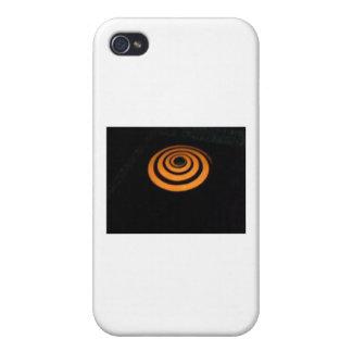 orange swirl iPhone 4/4S cover