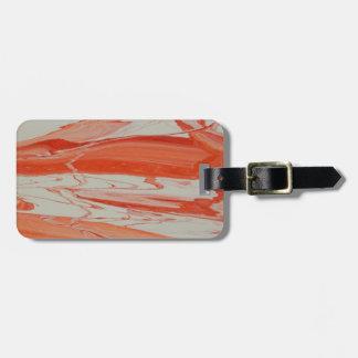 Orange Swirl Luggage Tag