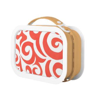 Orange Swirl Lunch Boxes