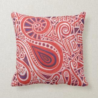 Orange Swirl Pillow
