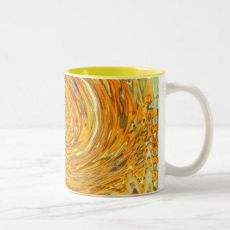 orange swirl Two-Tone mug