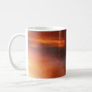 Orange Swirls Basic White Mug