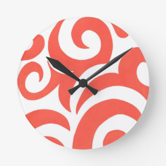 Orange Swirls Clocks
