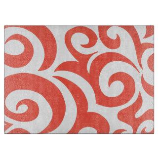 Orange Swirls Cutting Board