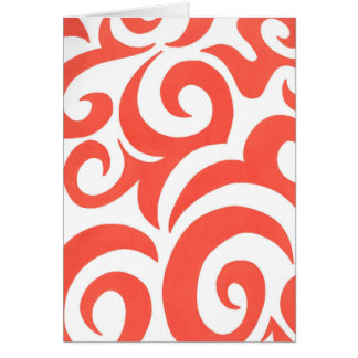 Orange Swirls Greeting Card