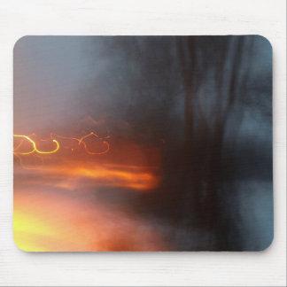 Orange Swirls Mousepad