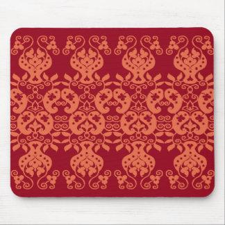 Orange Swirls&Paisley Decorative Pattern mousepad