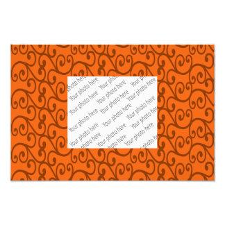 Orange swirls photo art