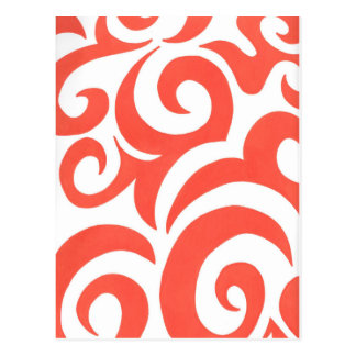 Orange Swirls Postcard