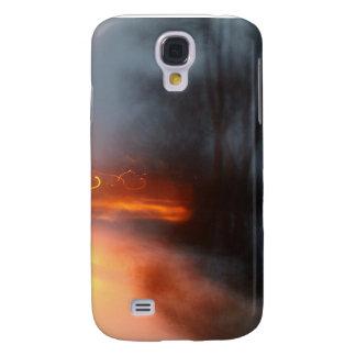 Orange Swirls Samsung Galaxy S4 Covers
