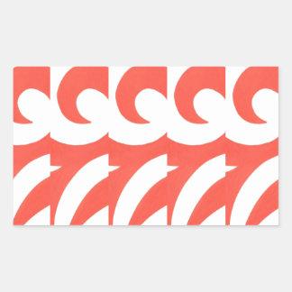 Orange Swirls Rectangular Sticker