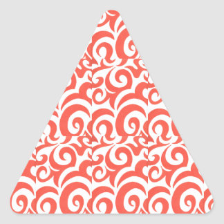 Orange Swirls Triangle Sticker