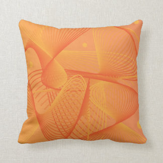 Orange Swirly Abstract Design Cushion