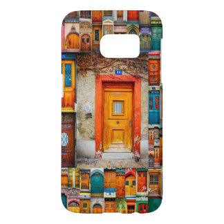 Orange Swiss Door and Vines Phone Cases