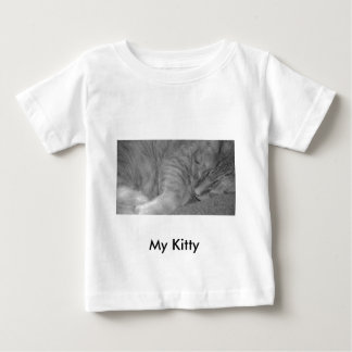 Orange Tabby Cat/Black & White Photo T-shirts