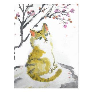 Orange Tabby Cat Close Up Postcard