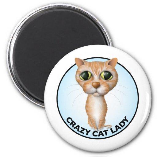 Orange Tabby Cat - Crazy Cat Lady Magnet