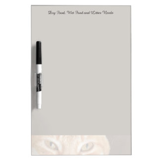 Orange tabby cat cropped dry erase board