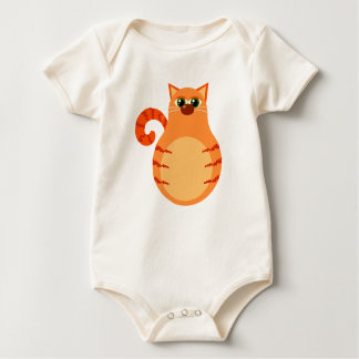 Orange Tabby Cat Infant bodysuit