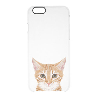 Orange Tabby Cat iphone clear case