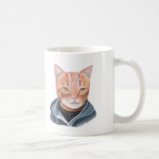 Orange Tabby Cat Mug Handsome Ginger Cat In Hoodie