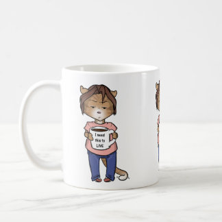 orange tabby cat needs coffee mug