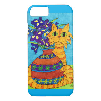 Orange Tabby Cat with Irises iPhone 7 Case