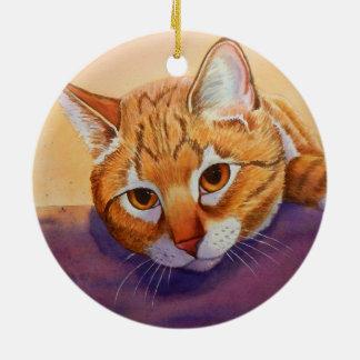 Orange Tabby Christmas Ornament