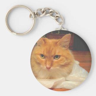 Orange Tabby Key Ring
