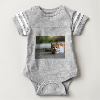 Orange tabby kitten. baby bodysuit