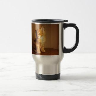 Orange Tabby Kitten Travel Mug