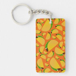 Orange tacos acrylic keychain