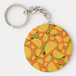 Orange tacos keychains