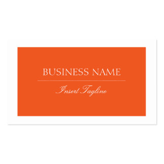 Orange Tagline Pack Of Standard Business Cards