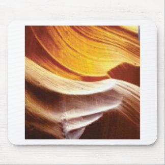 orange tan sun rocks mouse pad