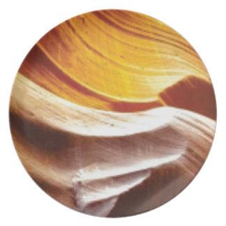 orange tan sun rocks plate