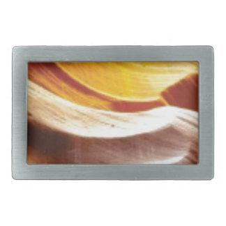 orange tan sun rocks rectangular belt buckle