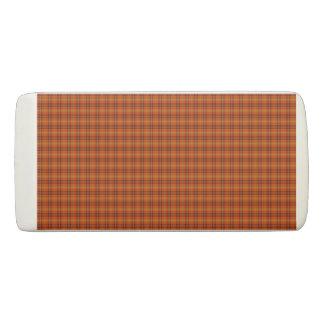 Orange Tartan Eraser