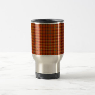 Orange Tartan Travel/Commuter Mug