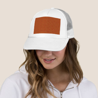 Orange Tartan Trucker Hat