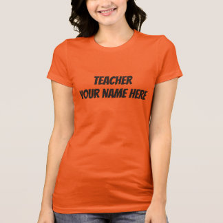 Orange Teacher Personalized T-Shirt