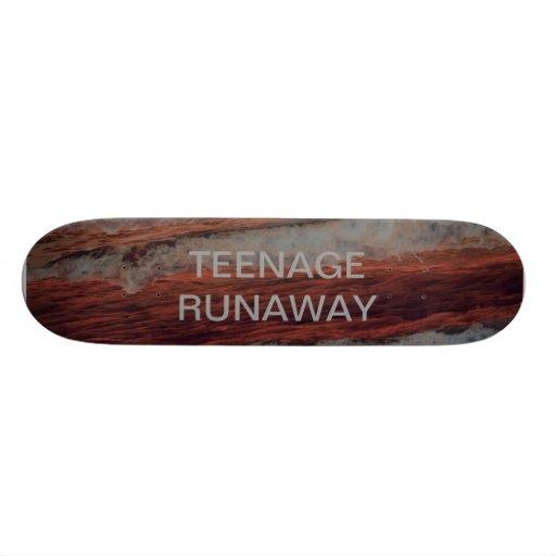 Orange Teenage Runaway Skate Board